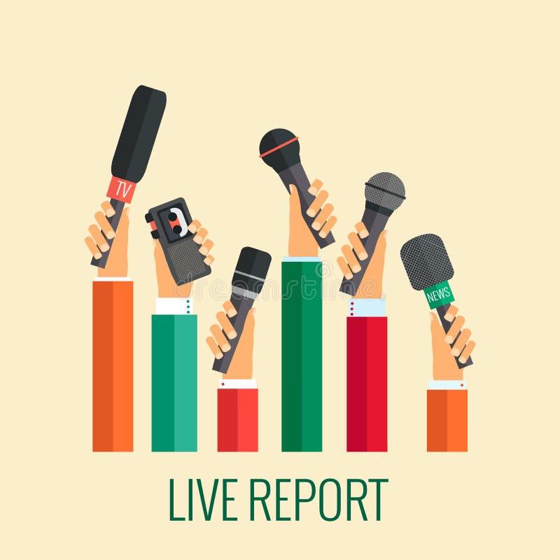 Levande rapport stock illustrationer