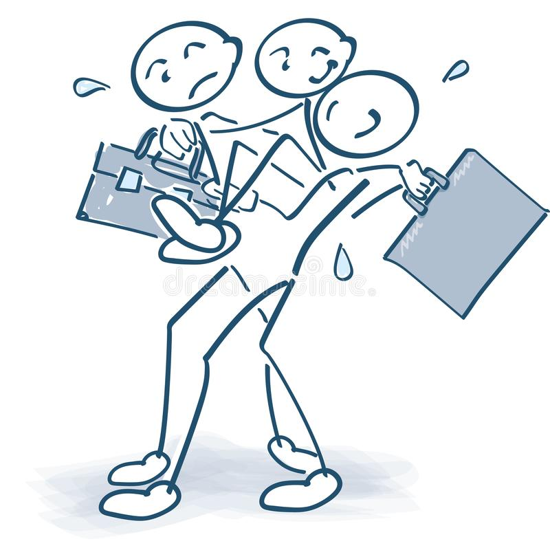 Levando um colega ferido com um saco ilustração royalty free