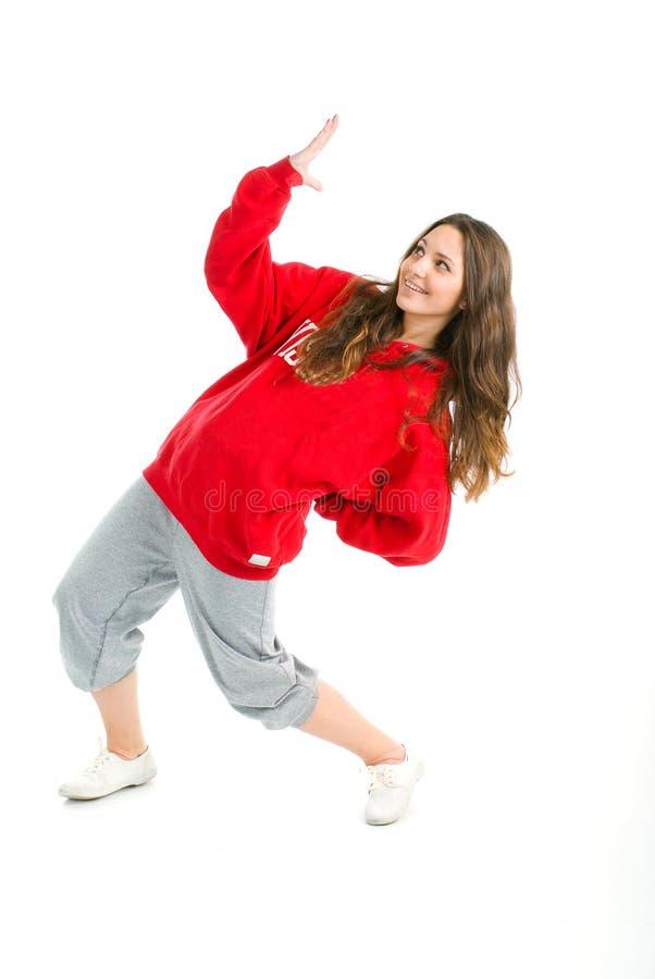 Levantamento à moda e fresco do dançarino do estilo do lúpulo do quadril fotografia de stock royalty free