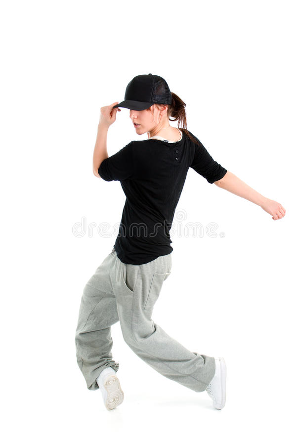 Levantamento à moda e fresco do dançarino do estilo do lúpulo do quadril imagem de stock