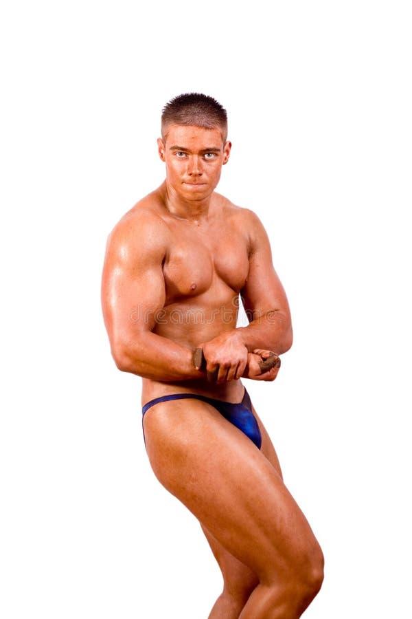 Download Levantamento Amador Do Bodybuilder Foto de Stock - Imagem de biceps, isolado: 12812694