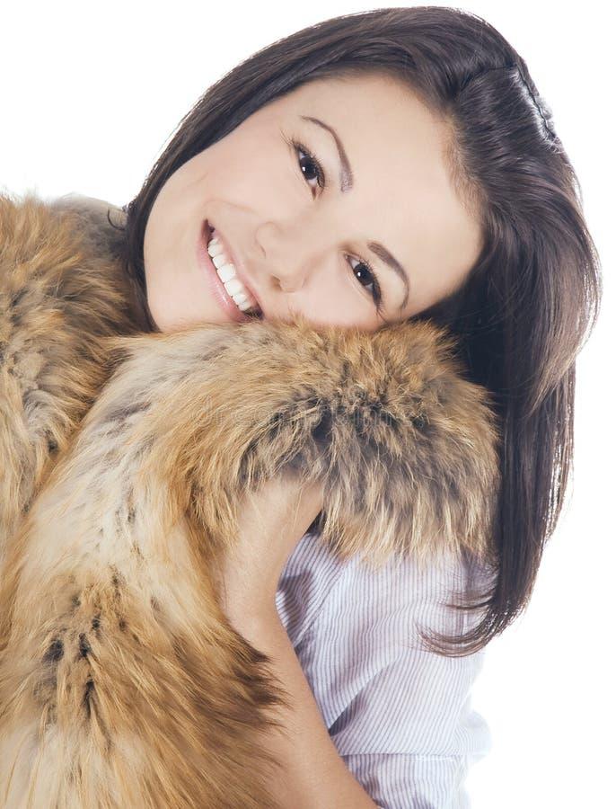 Levantamento bonito da jovem mulher imagem de stock royalty free