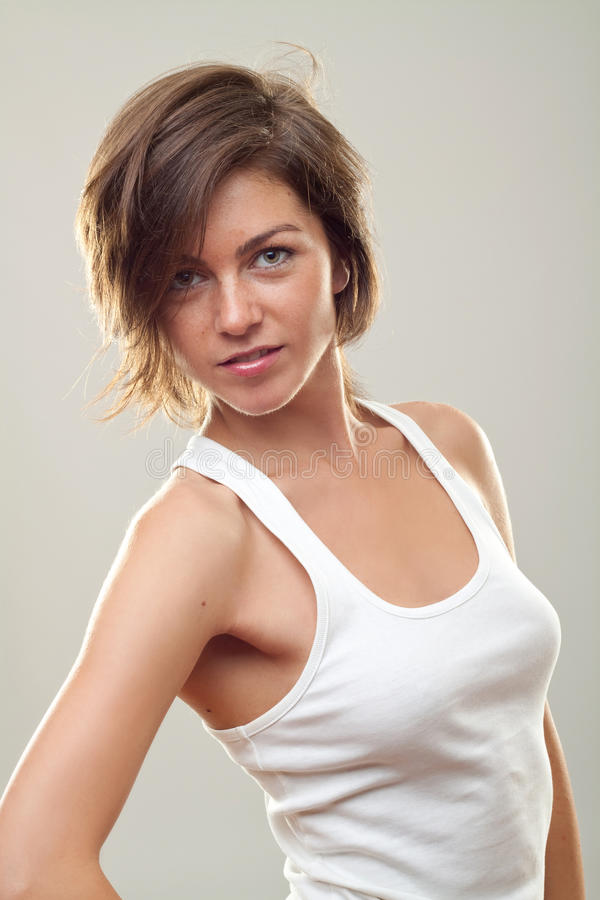 Levantamento bonito da mulher fotos de stock royalty free