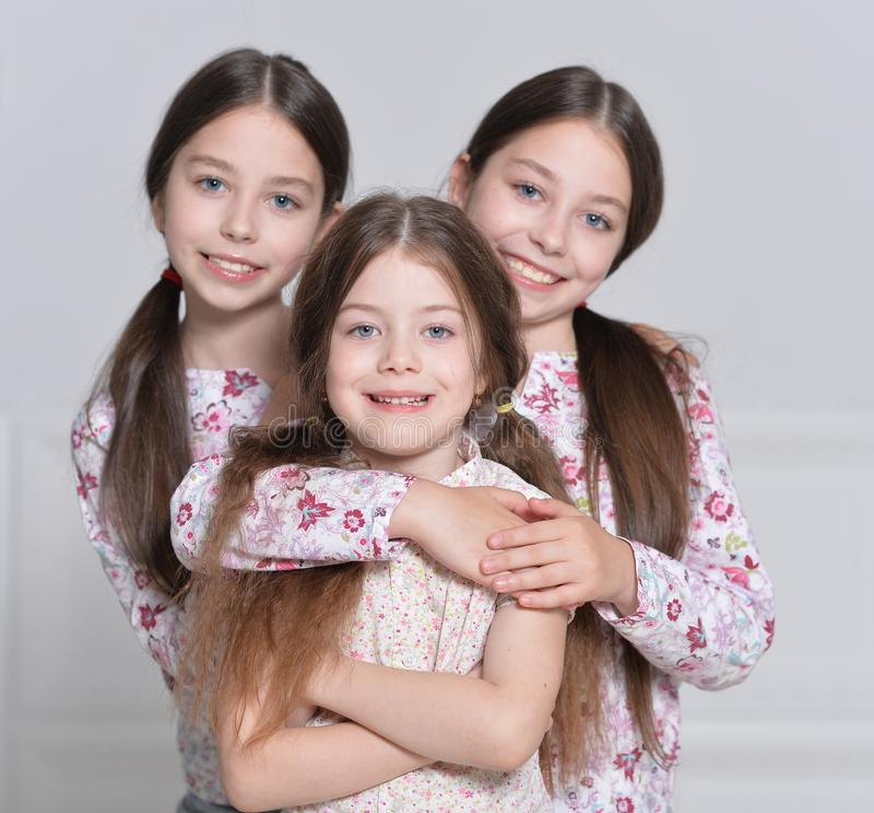 Levantamento bonito das meninas fotografia de stock royalty free