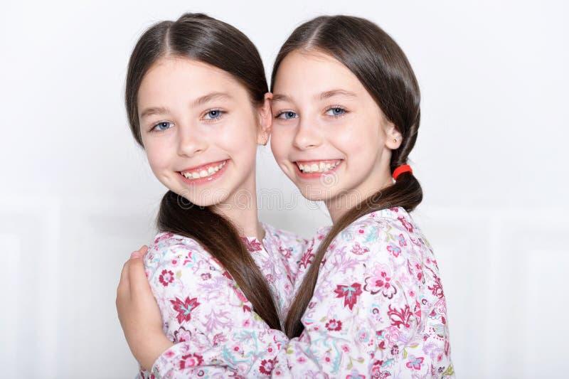 Levantamento bonito das meninas foto de stock royalty free