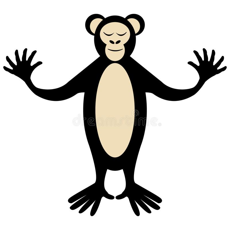 Levantamento bonito do macaco dos desenhos animados ilustração stock