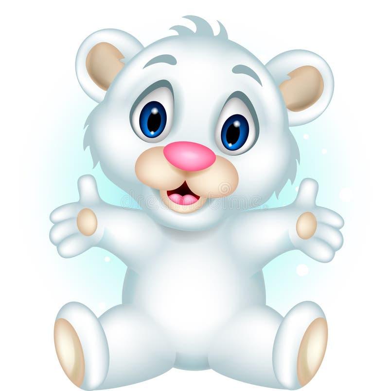 Levantamento bonito do urso polar do bebê ilustração do vetor