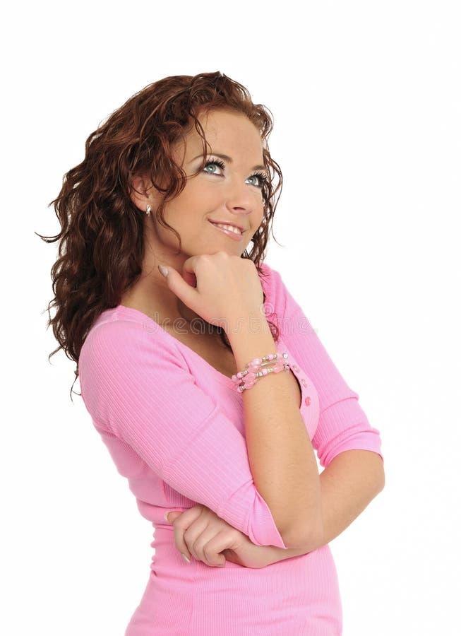Levantamento bonito novo da mulher imagens de stock royalty free