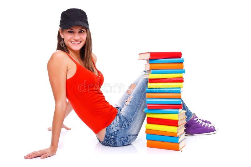 Levantamento com livros foto de stock royalty free