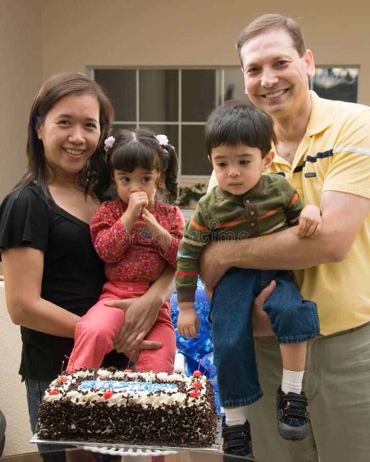 Levantamento da família foto de stock royalty free