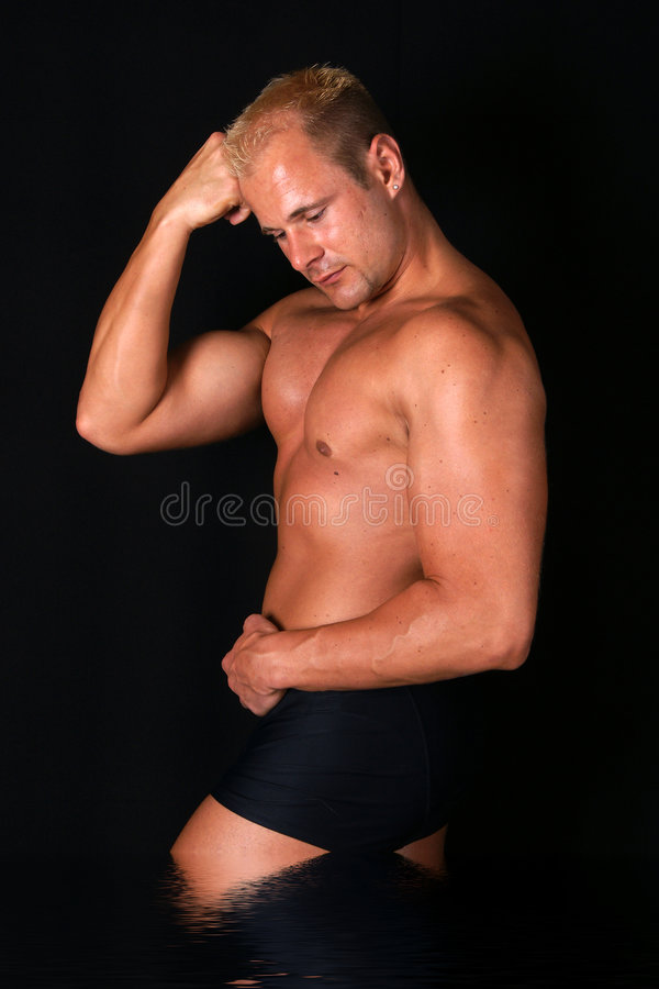 Levantamento do Bodybuilder imagem de stock royalty free
