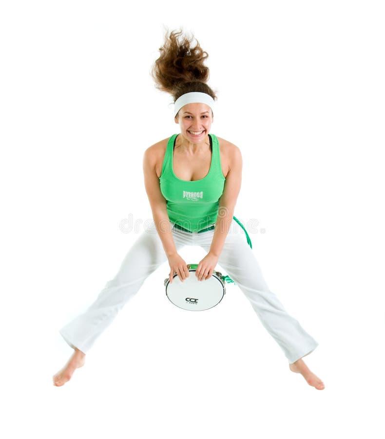 Levantamento do dançarino de Capoeira imagem de stock royalty free