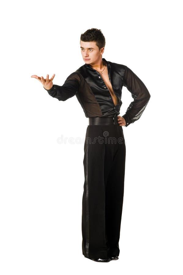 Levantamento do dançarino do Latino fotografia de stock