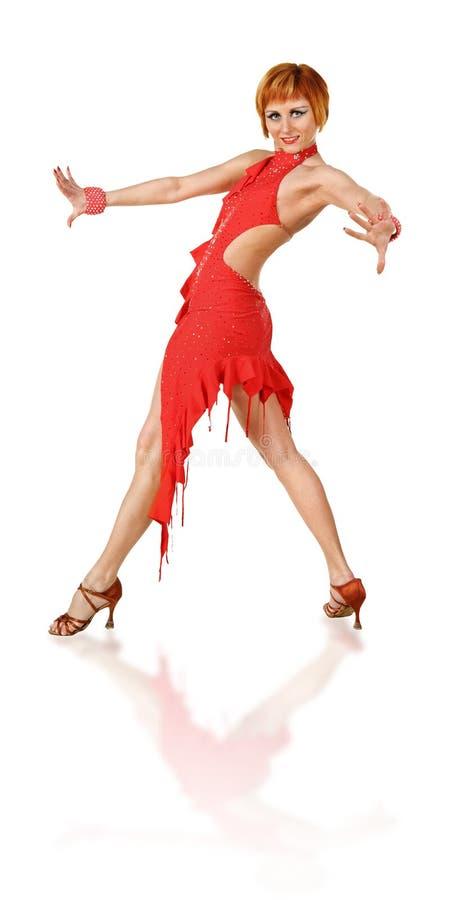Levantamento do dançarino do Latino foto de stock