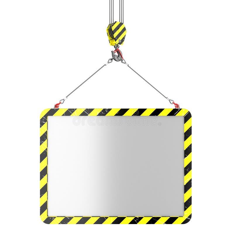 Levantamento do gancho do guindaste do cartaz ilustração stock