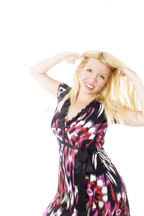 Levantamento louro bonito da mulher fotos de stock royalty free