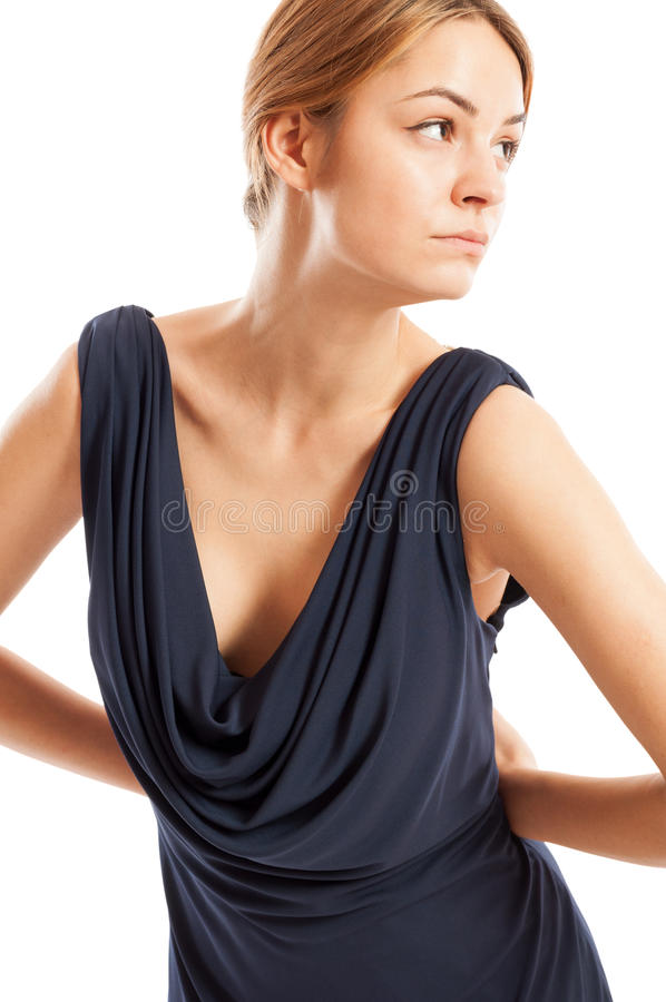 Levantamento modelo fêmea 'sexy', novo e elegante foto de stock royalty free