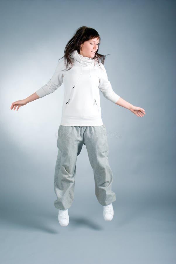 Levantamento moderno do dançarino do estilo fotos de stock