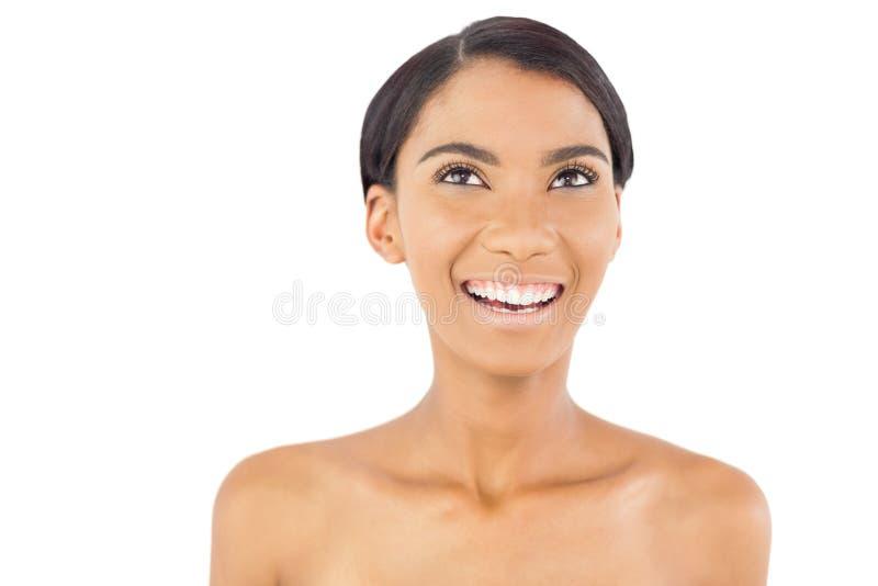 Levantamento natural alegre da mulher fotos de stock