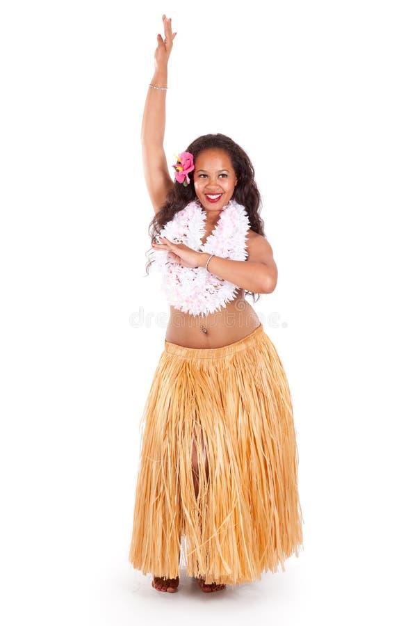 Levantamento novo do dançarino do hula imagem de stock
