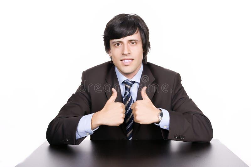 Levantamento novo do homem de negócios imagem de stock royalty free