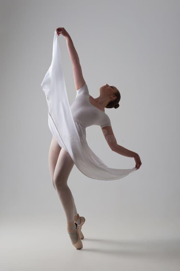 Levantamento novo e bonito do dançarino de bailado isolado fotos de stock royalty free
