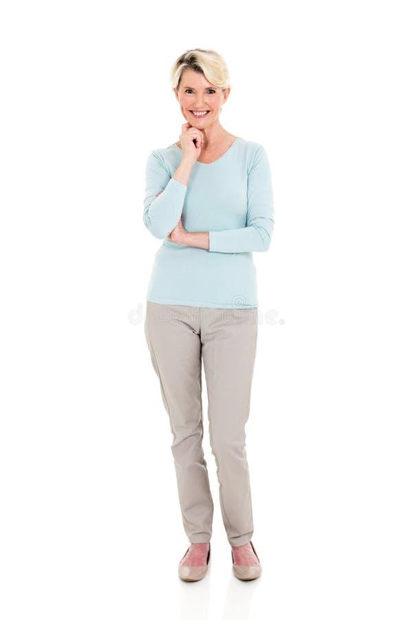 Levantamento sênior da mulher fotografia de stock