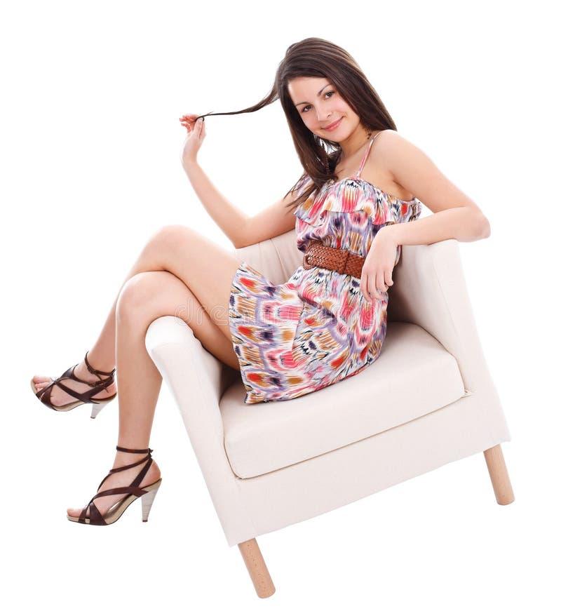 Levantamento 'sexy' da mulher nova imagens de stock