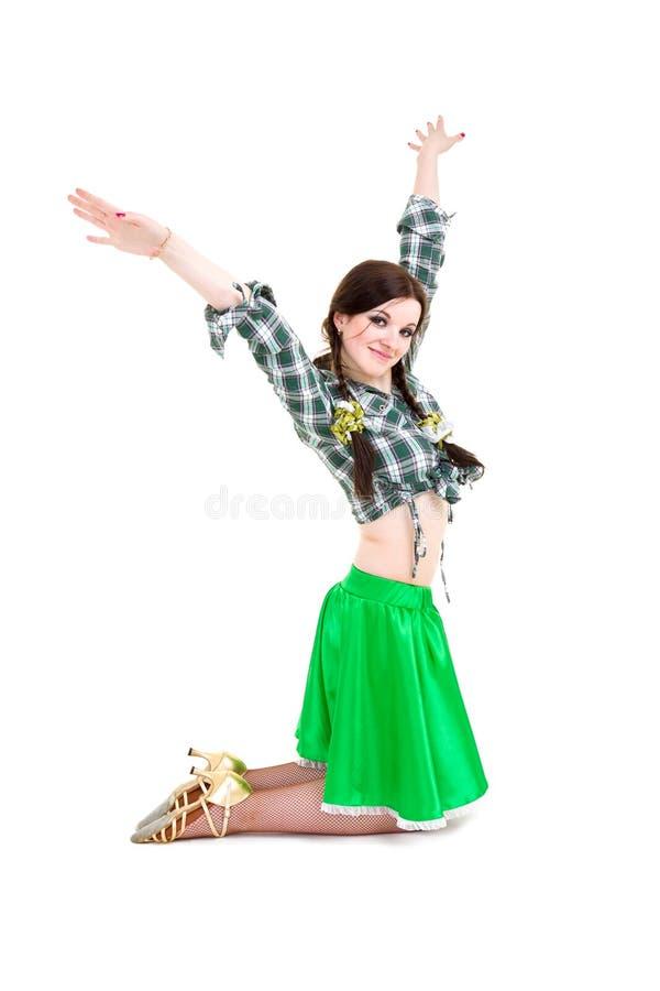 Levantamento 'sexy' do cowgirl fotos de stock