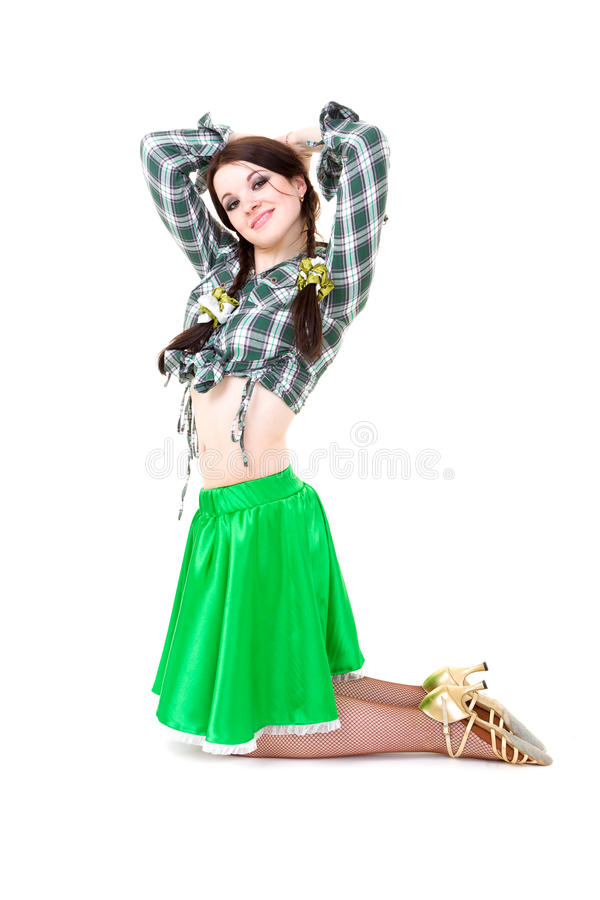 Levantamento 'sexy' do cowgirl fotografia de stock