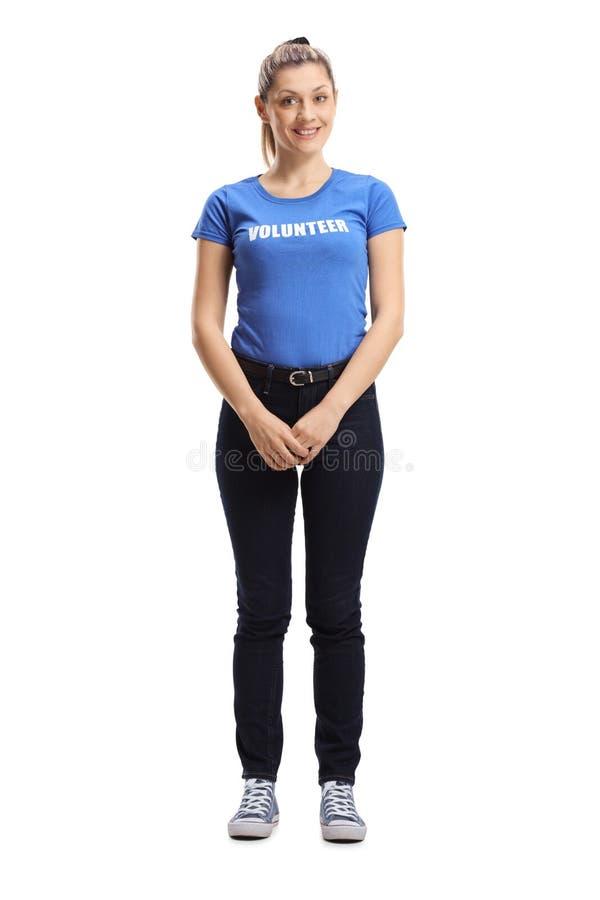 Levantamento voluntário da jovem mulher imagens de stock