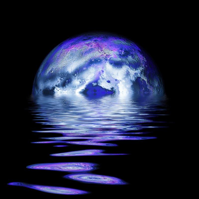 Levantamiento de la Luna Llena stock de ilustración