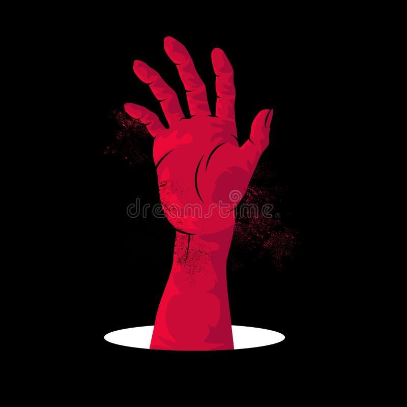 Levantamiento de la mano del zombi libre illustration