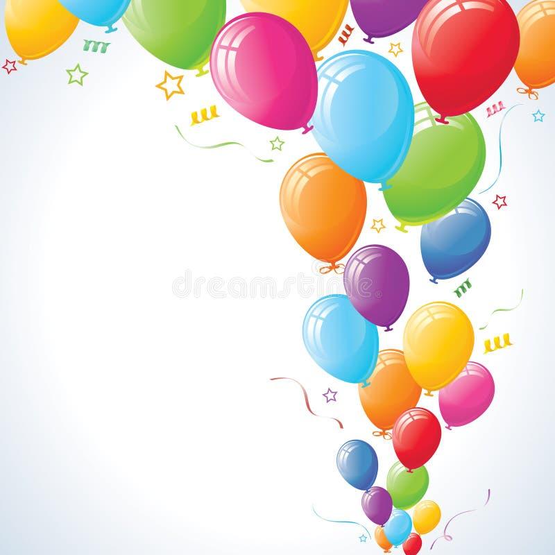 Levantamiento de los globos del partido stock de ilustración