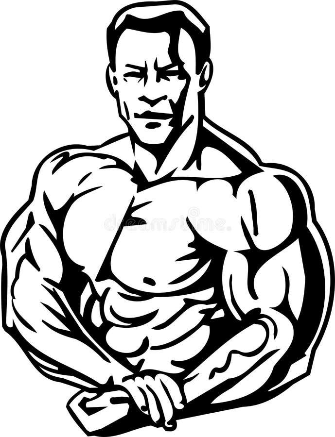 Levantamiento de pesas y Powerlifting - vector. libre illustration
