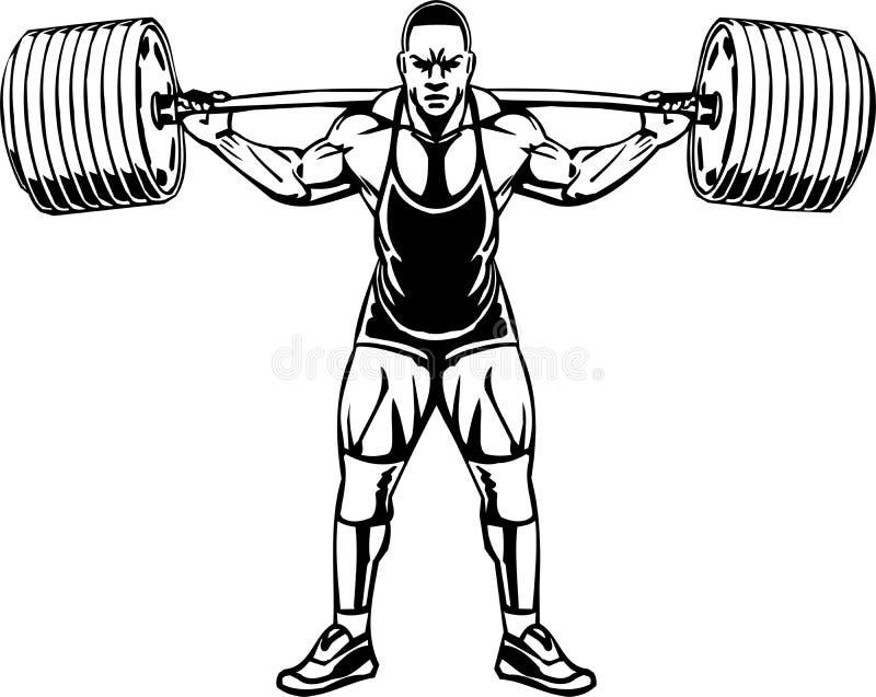 Levantamiento de pesas y Powerlifting - vector. ilustración del vector