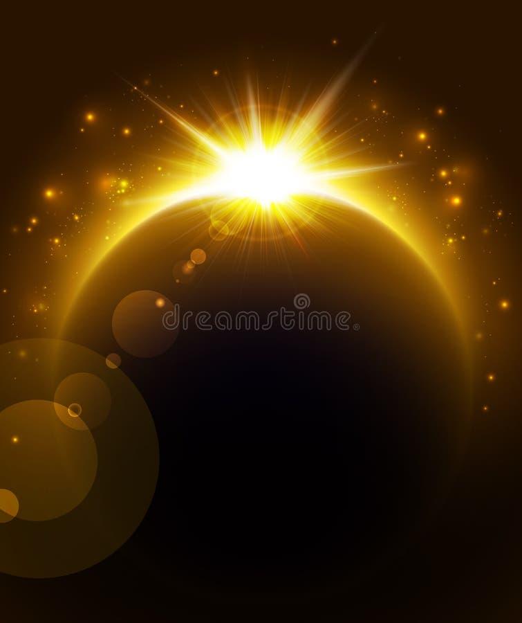 Levantamiento Sun ilustración del vector