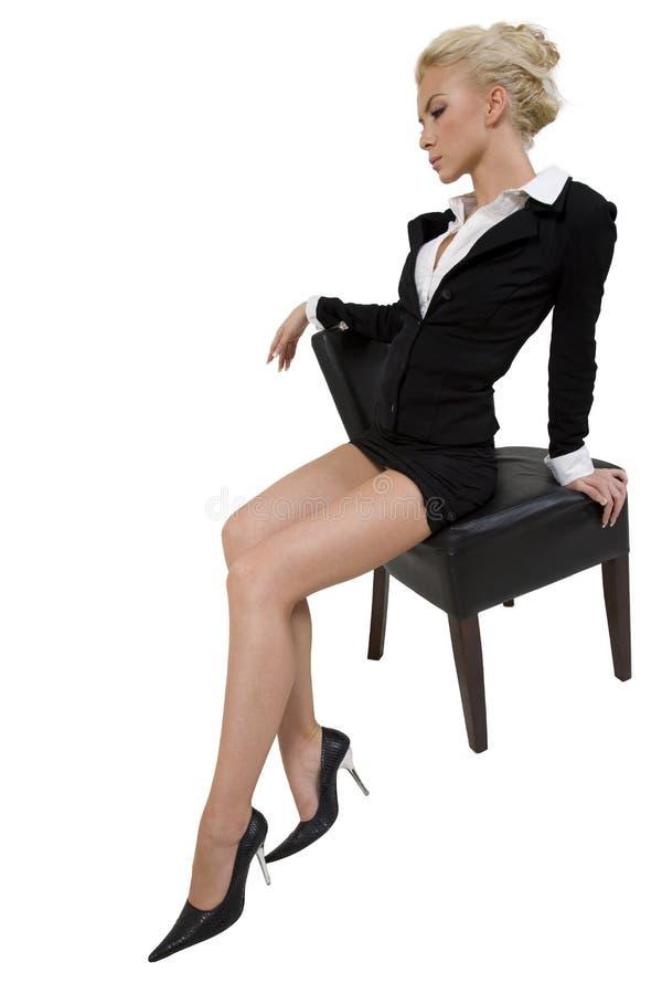 Levantando a mulher foto de stock