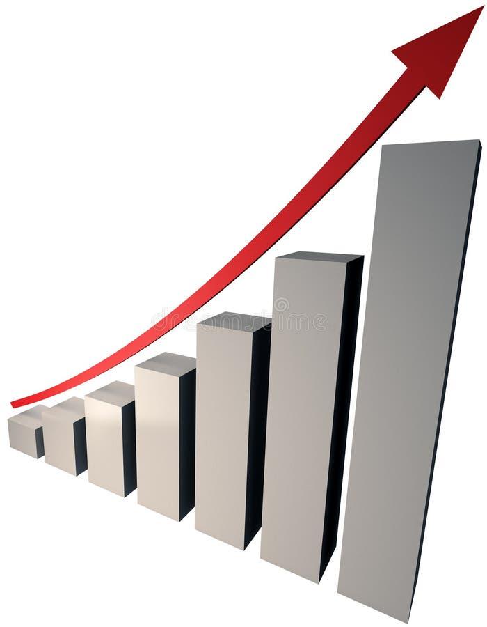 Levantando o gráfico ilustração royalty free