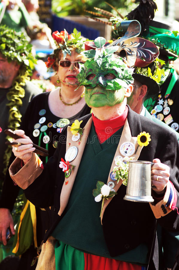 Levante el festival verde en Hastings, Reino Unido imagen de archivo libre de regalías