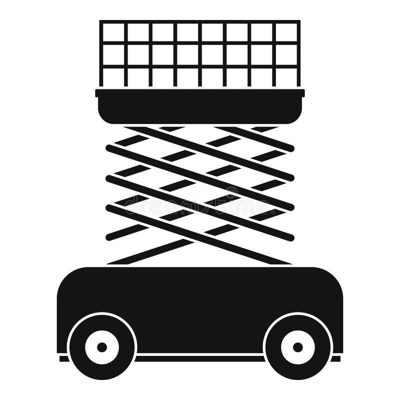 Levante el icono de la máquina, estilo simple stock de ilustración