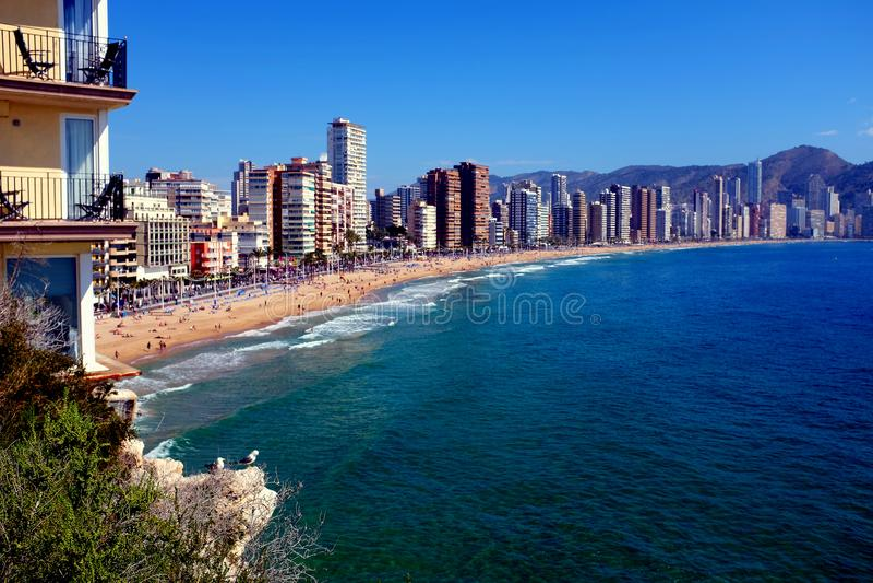 Levante-Strand, Benidorm, Spanien lizenzfreies stockbild