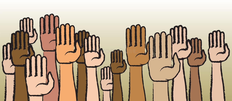 Levante suas mãos ilustração stock