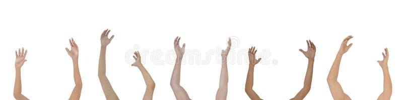 Levante suas mãos - isoladas ilustração stock