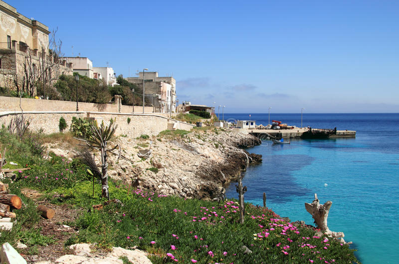 Levanzo Insel in Sizilien lizenzfreies stockfoto