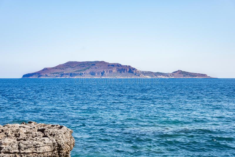 Levanzo island sea royalty free stock photography