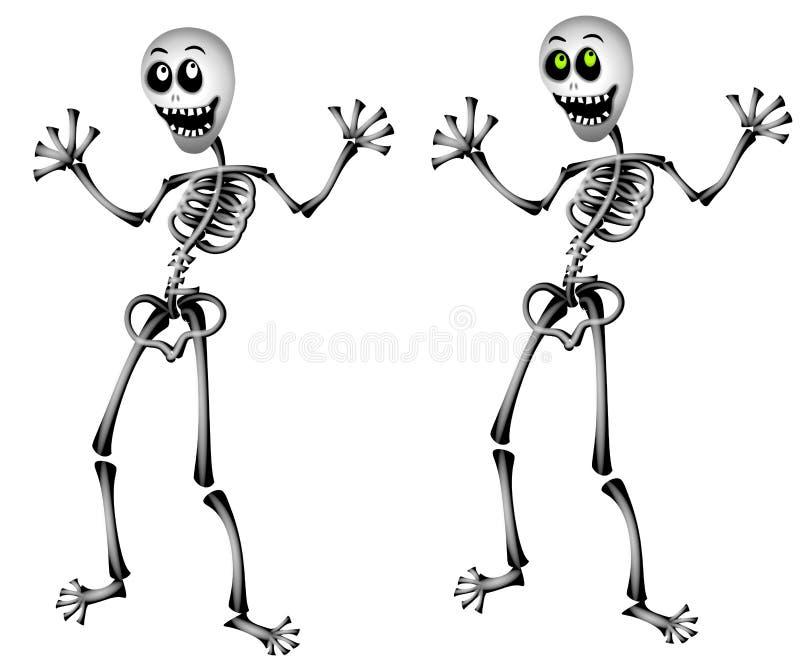 Levarsi in piedi degli scheletri di Halloween illustrazione vettoriale