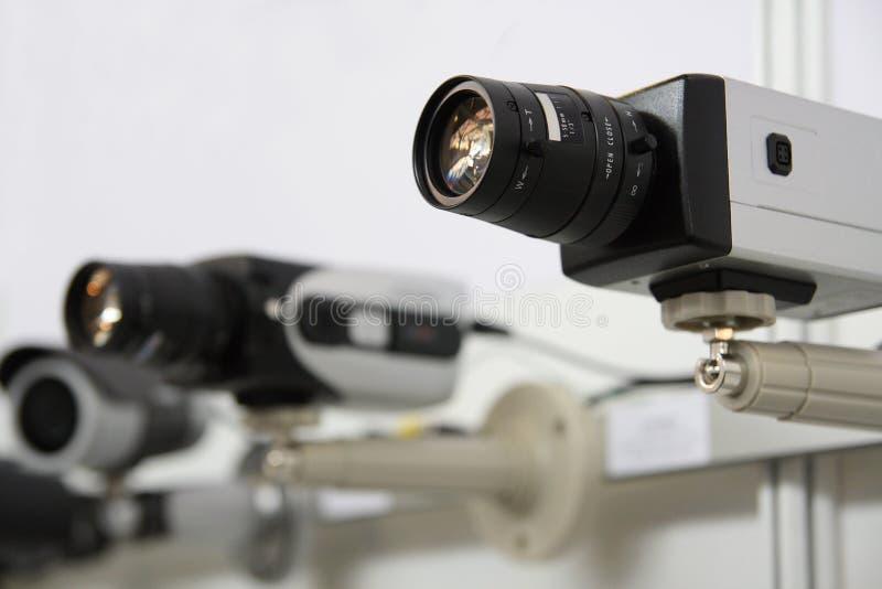 Levas de la seguridad del CCTV. imagenes de archivo