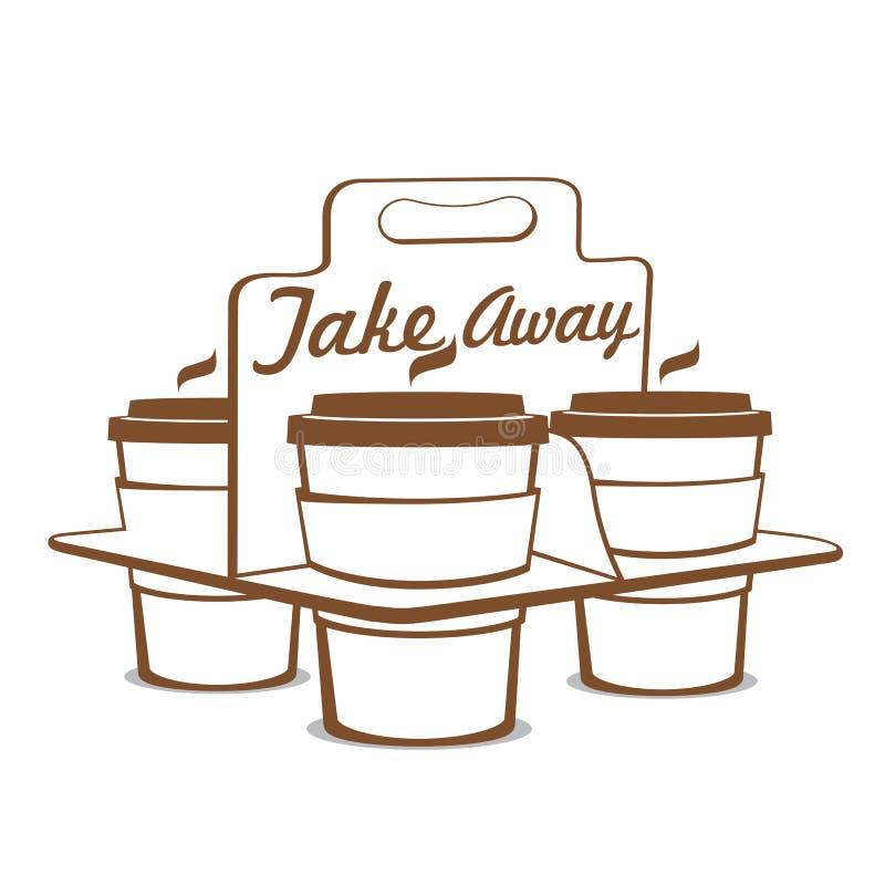 Leve embora copos de café ilustração royalty free
