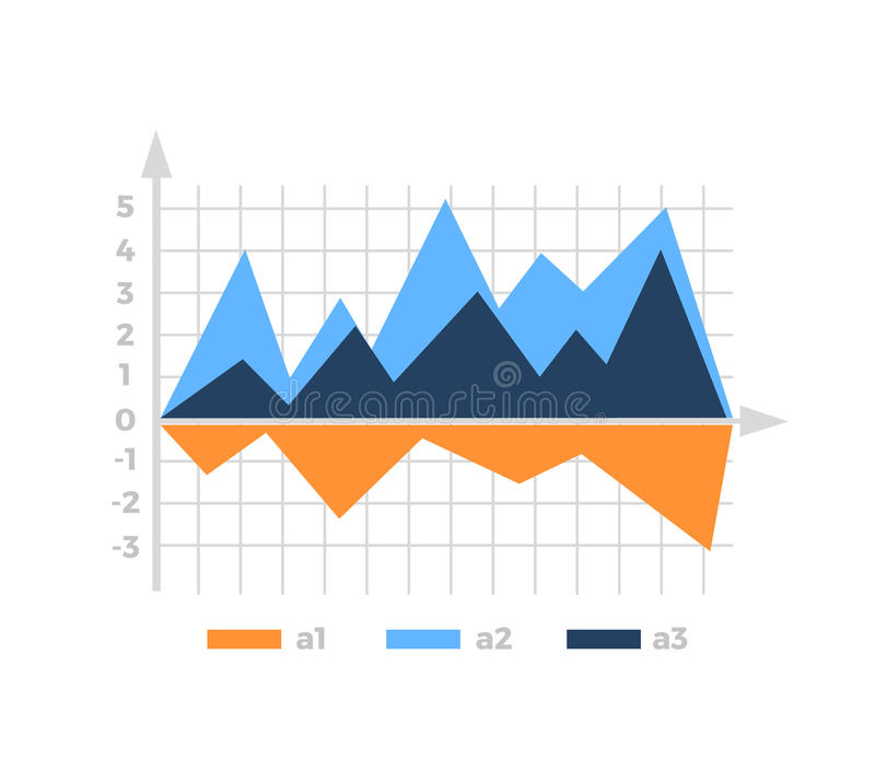 Level Chart with Colored Arrows. Colored arrows indicate the level number. Charts and graphs business template for statistical or financial data report vector illustration
